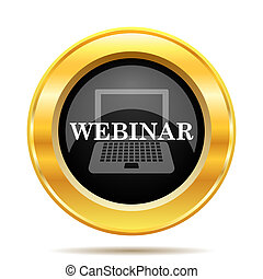 Webinar icon Internet button on white background