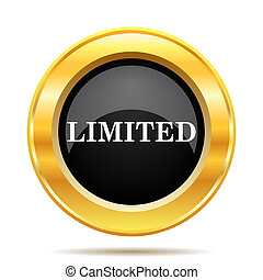 Limited icon. Internet button on white background.