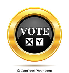 Vote icon. Internet button on white background.