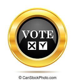 Vote icon. Internet button on white background.