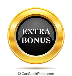 Extra bonus icon Internet button on white background