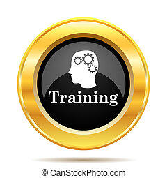 Training icon Internet button on white background