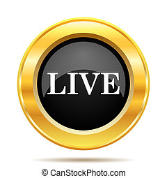 Live icon Internet button on white background