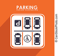 parking design - parking graphic design , vector...