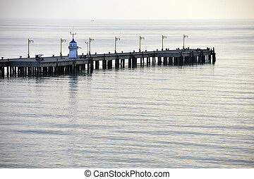 Prachuap Khiri Khan, Thailand - Wharf on the beach in...