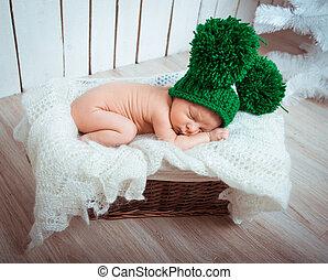 sweet newborn boy sleep