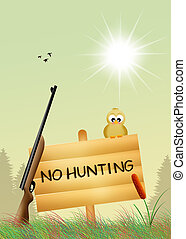 hunting ban - illustration of hunting ban
