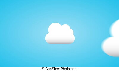 Cloud computing Animation Design, HD 1080