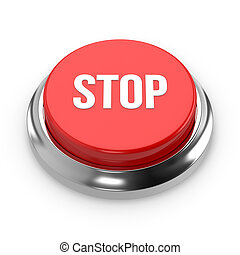 Red round stop button
