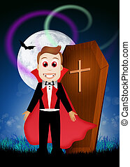 Count Dracula - illustration of Count Dracula