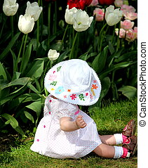 Baby doll. - Baby doll left in a tulip field in amsterdam.