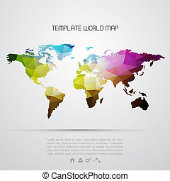 Abstract background with vector world map EPS 10