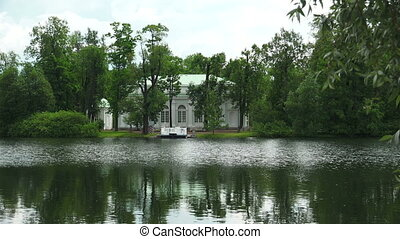 Hall on the island. Pushkin. Catherine Park. Tsarskoye Selo....