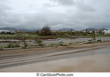 Damaged by hurricane Odile road in Cabo San Lucas - Main...