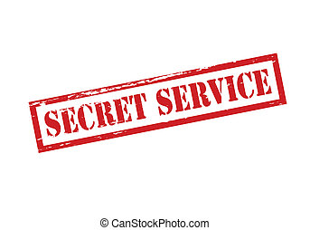 Secret service - Rubber stamp with text secret service...