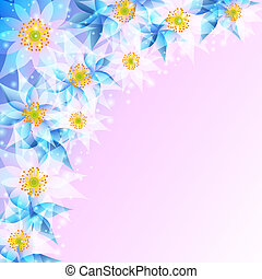 Festive background with abstract flowers - Beautiful festive...