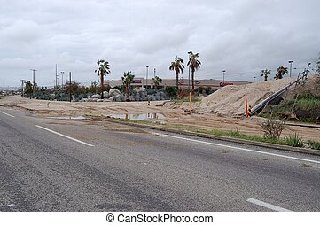 Road to Costco in Cabo San Lucas after hurricane Odile -...