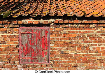 old weathered building - architectural patterns and textures...