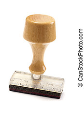 Rubber stamp isolated on white background