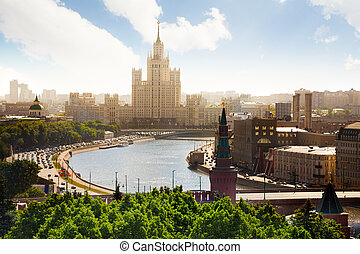 Beautiful view on Kotelnicheskaya embankment -...