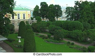 Catherine Palace. Pushkin. Catherine Park. Tsarskoye Selo. 4K.