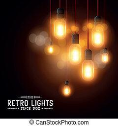 Vintage Vector Light bulbs