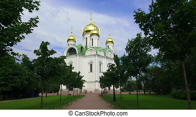 The Cathedral Of St. Catherine. Pushkin. Catherine Park. Tsarskoye Selo.