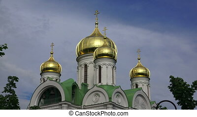 The Cathedral Of St. Catherine. Pushkin. Catherine Park....
