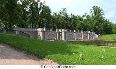 Granite terrace. Pushkin. Catherine Park. Tsarskoye Selo....