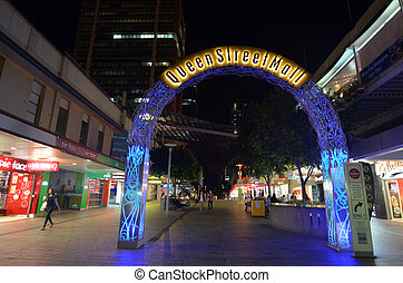 Queen Street Mall -Brisbane Queensland Australia - BRISBANE,...