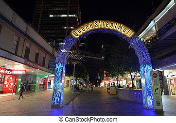 Queen Street Mall -Brisbane Queensland Australia - BRISBANE,...