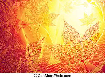 Autumn leaves - Autumn background Eps8 CMYK Organized by...