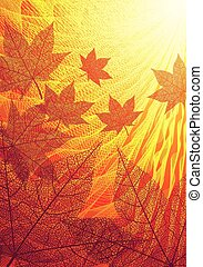 Autumn leaves - Autumn background. Eps8. CMYK. Organized by...