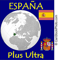 Espana motto location flag coat