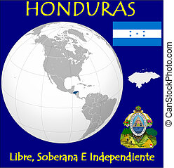 Honduras motto location flag coat