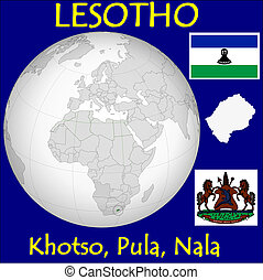 Lesotho motto location flag coat