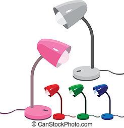 Desk lamps - Set of 5 different colors desk lamps...