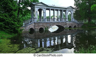 Marble bridge Pushkin Catherine Park Tsarskoye Selo The...