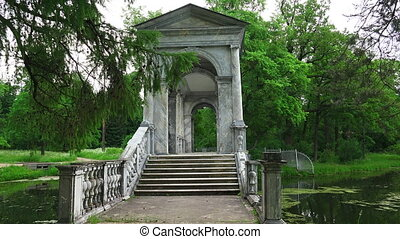 Marble bridge. Pushkin. Catherine Park. Tsarskoye Selo. The...