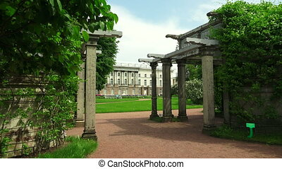 The garden near the Kagul obelisk. Pushkin. Catherine Park....