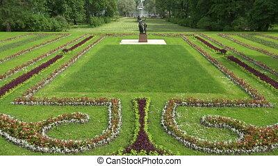 Sunny meadow. Pushkin. Catherine Park. Tsarskoye Selo. The...
