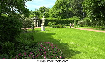 The garden near the Kagul obelisk Pushkin Catherine Park...