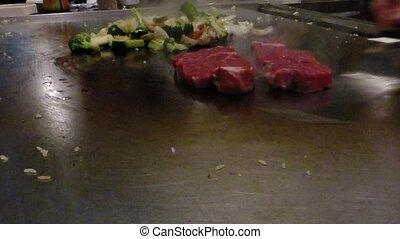 Chef cook preparing Japanese food