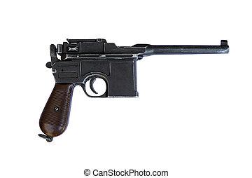 siglo, arma de fuego, temprano,  mauser, decimonoveno, pistola