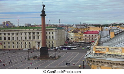 Petersburg View from the roof The Palace square The Centre...