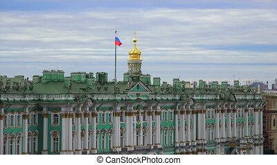 Petersburg View from the roof The Hermitage The Centre Of...