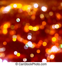 Christmas background of blur bokeh lights