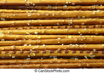 Saltsticks in deail as background