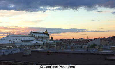 Petersburg. View from the roof. St. Isaac's Cathedral. The...