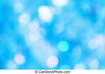 Blue defocused lights background - Blue defocused background...